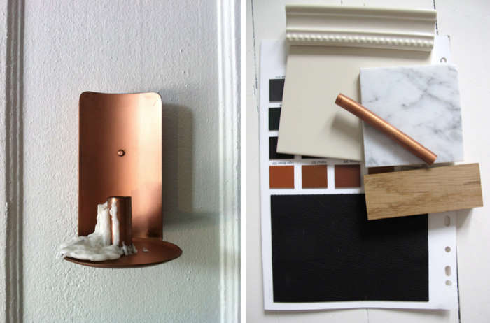 700 copper light and palette