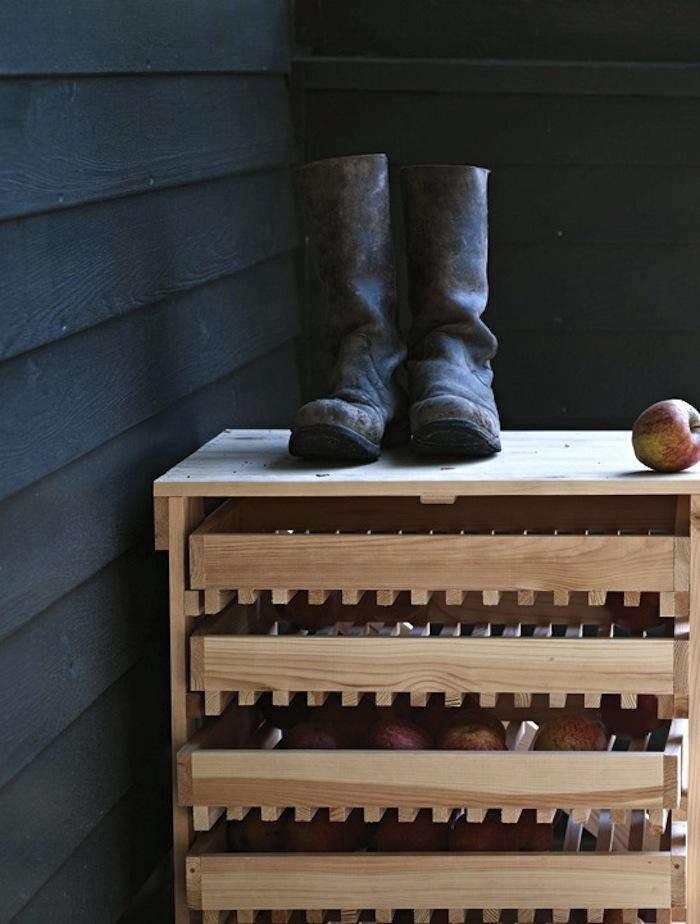 700 five drawer apple rack