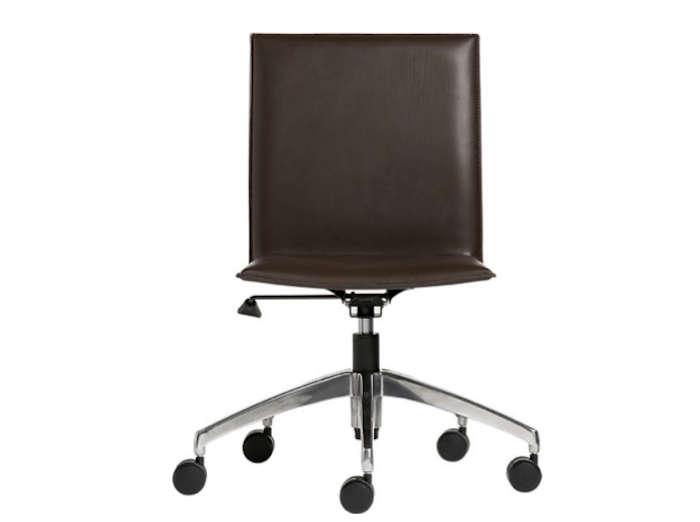 700 folio leather office chair chocolate