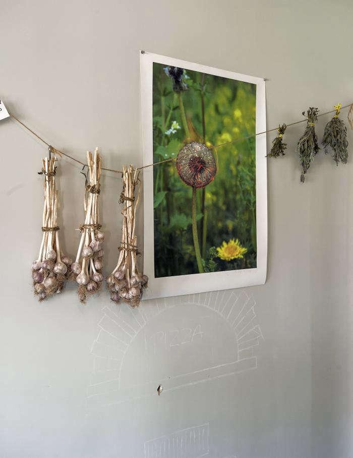700 garlic hanging wall table on ten