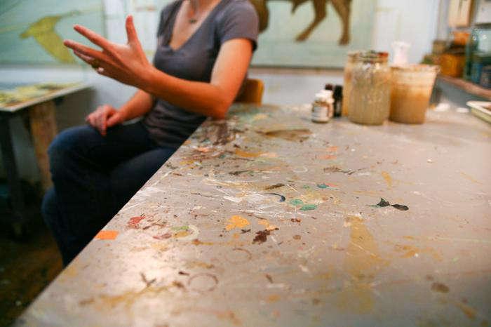 Studio Visit Alison Kendalls Art Studio portrait 5