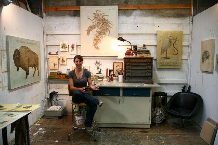 Studio Visit Alison Kendalls Art Studio portrait 10