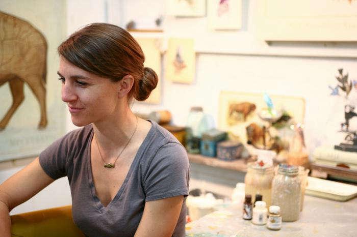 Studio Visit Alison Kendalls Art Studio portrait 9