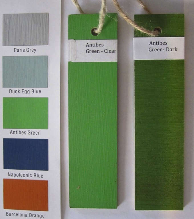 annie sloan green paint chips