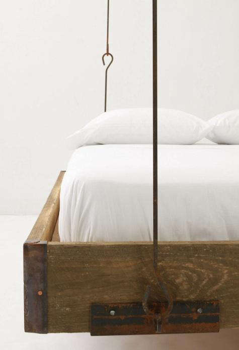 Furniture Barnwood Hanging Bed from Anthropologie portrait 4