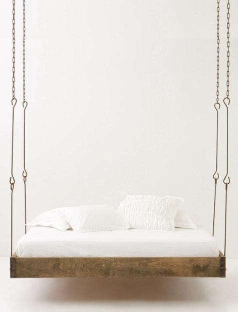 Furniture Barnwood Hanging Bed from Anthropologie portrait 3