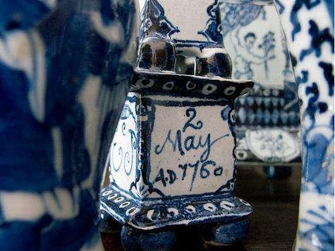 dennis severs blue porcelain