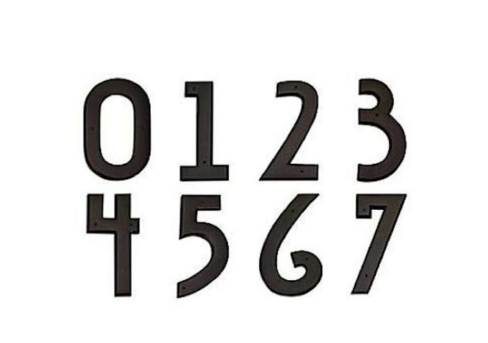 700 black deco house numbers