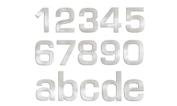 700 blomus aluminum wall house numbers