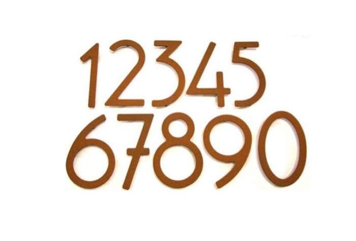 700 brown art deco house numbers