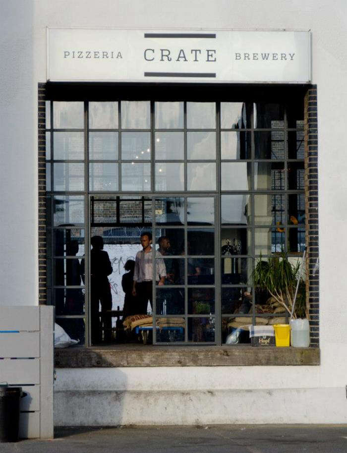 700 crate brewery exterior
