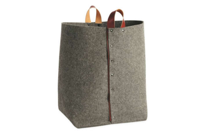 700 felt storage room and board gray leather