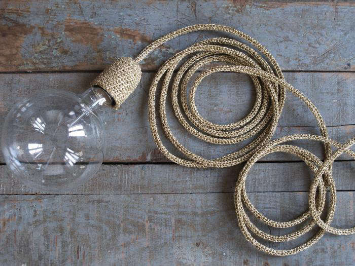 5 Favorites Knitted and Crocheted Pendant Lights portrait 5