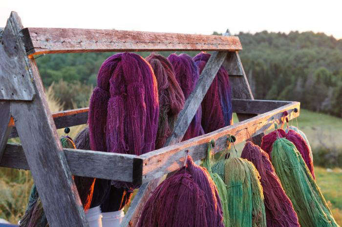 Dyed by the Sea Seacolors Blankets from Maine portrait 4