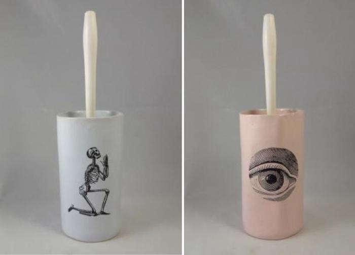 700 skeleton eye toilet brush keramik