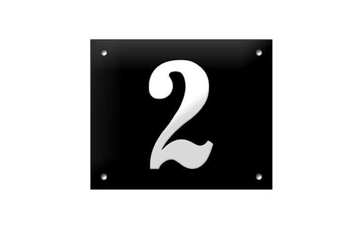 700 two house number in black