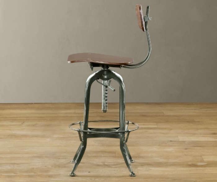 700 vintage toledo bar chair antiqued green