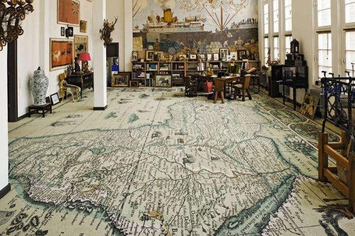 700 world map rug
