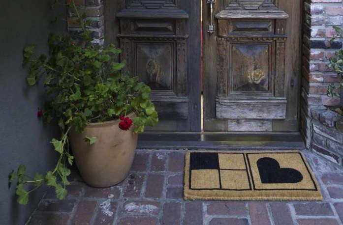 commune doormat heart 15