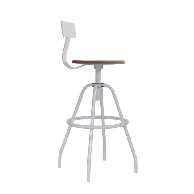makr gray swivel stool
