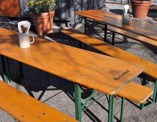 biergarten german tables
