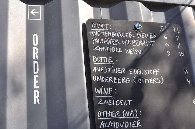 biergarten order sign