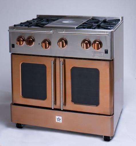 bluestar copper stove closed