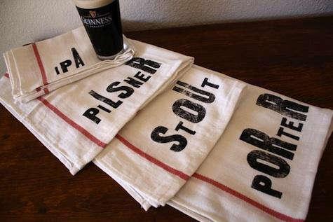 etsy beer lovers towels