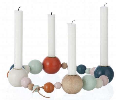 Tabletop Candleholder String from Ferm Living portrait 3