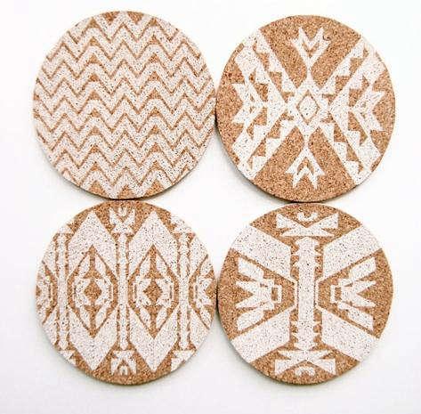 Holiday Gift Cork Coasters at Haus Interior portrait 3