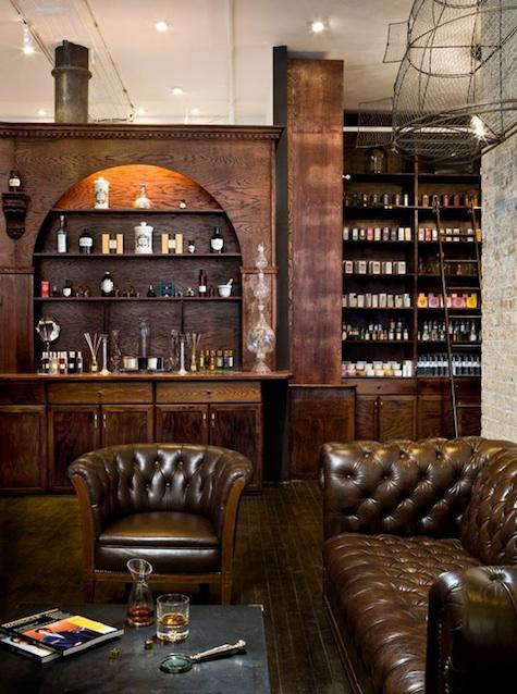 min apothecary leather chair
