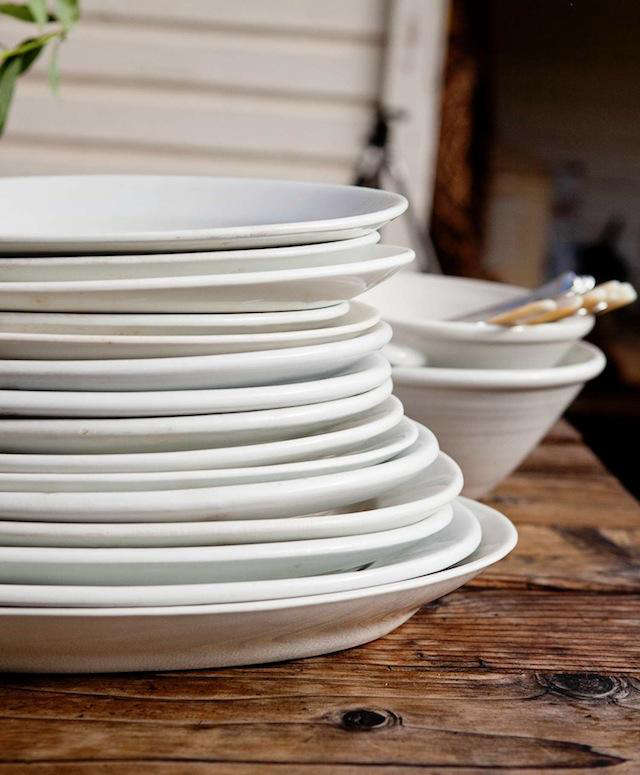 pope valley holiday table plates