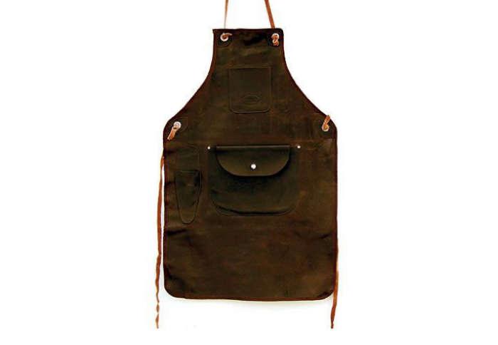 700 chocolate leather apron