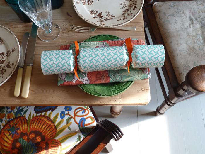 Crackers are a traditional addition to holiday tables in the UK, as seen here, in Holiday Tables Fit for an Englishman: Ben Pentreath's City and Country Picks.
