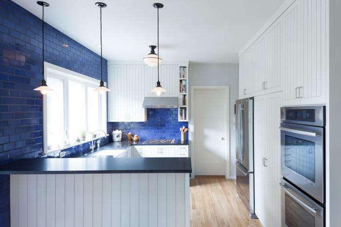 700 howells architecture blue english kitchen modern