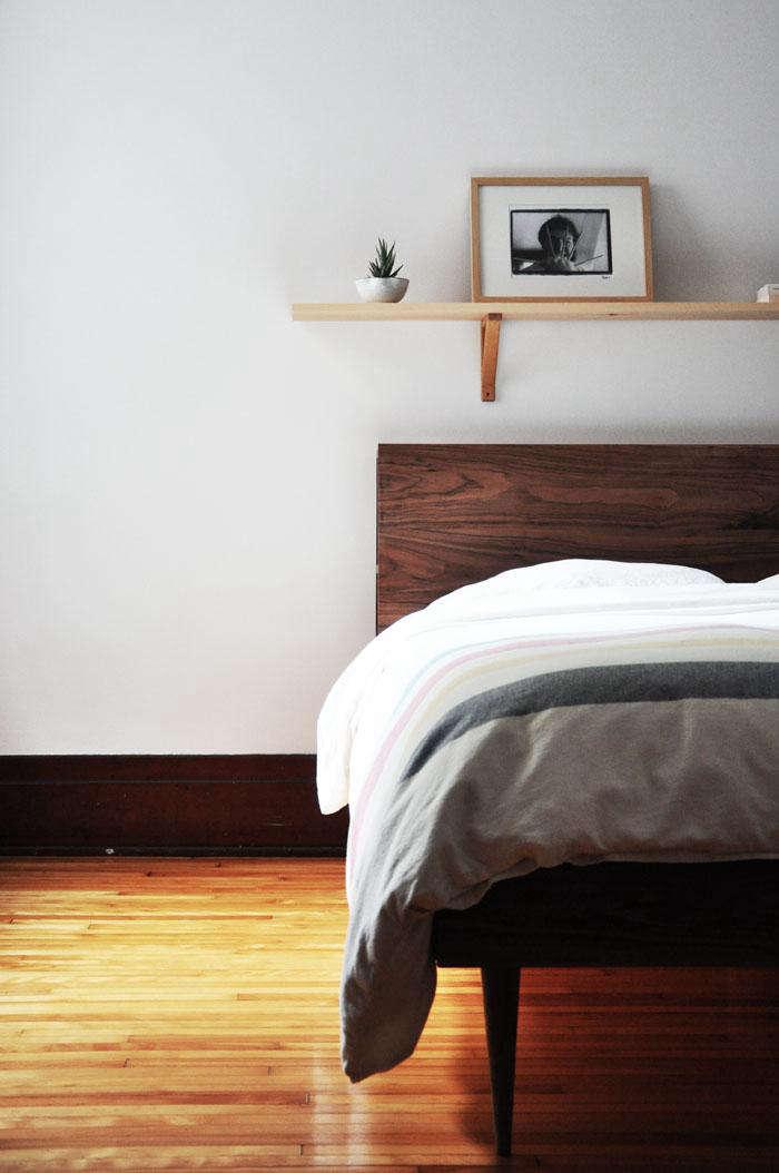 700 wooden headboard shelf diy 2