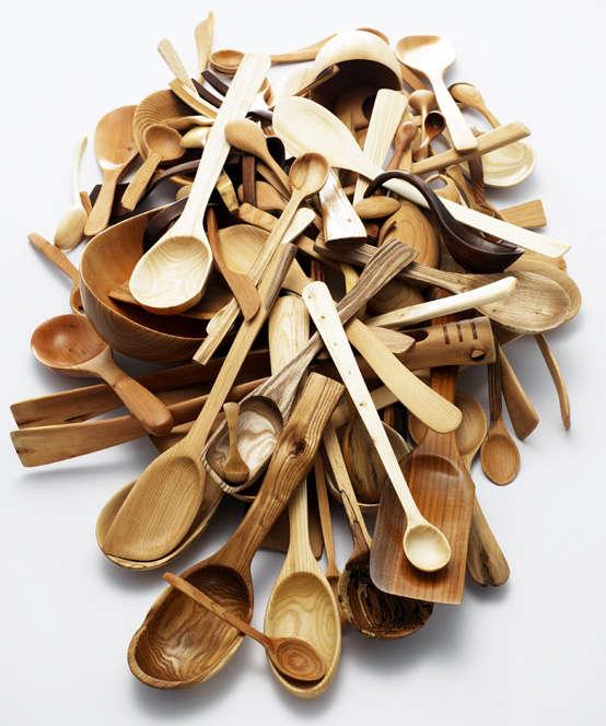 nic webb wooden spoon pile