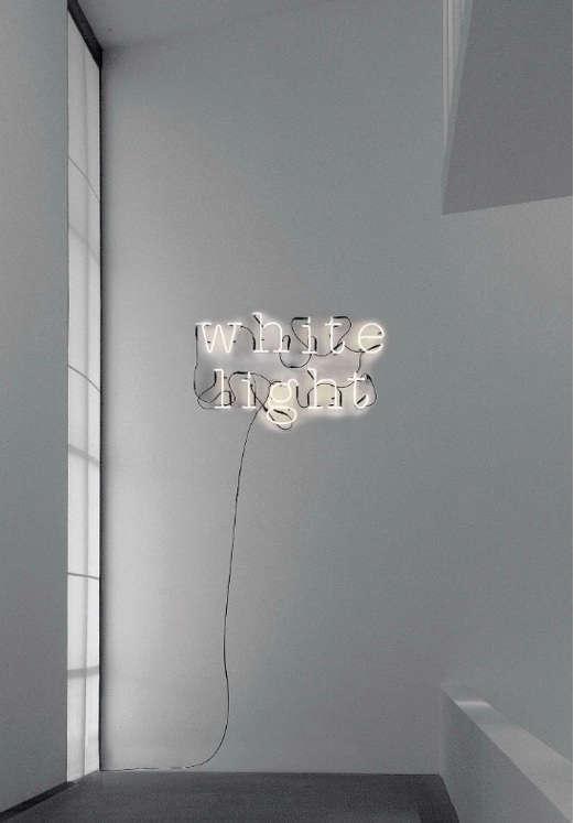 white light seletti wall art