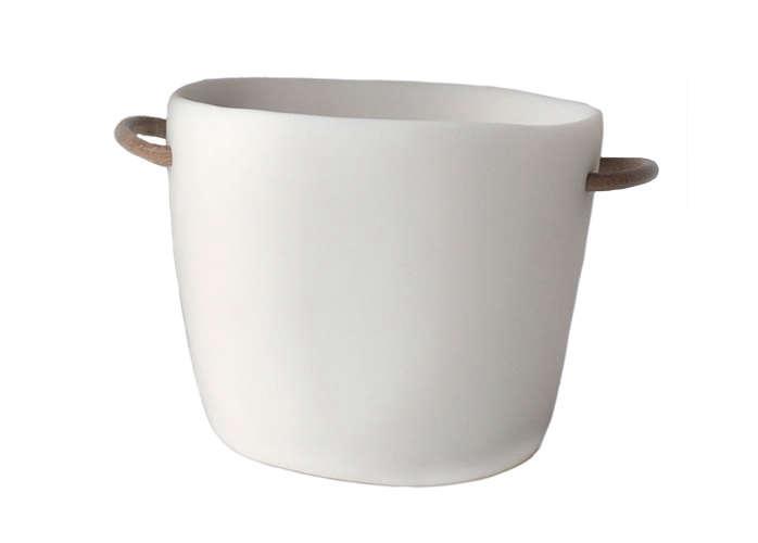 white resin ice bucket by tina frey