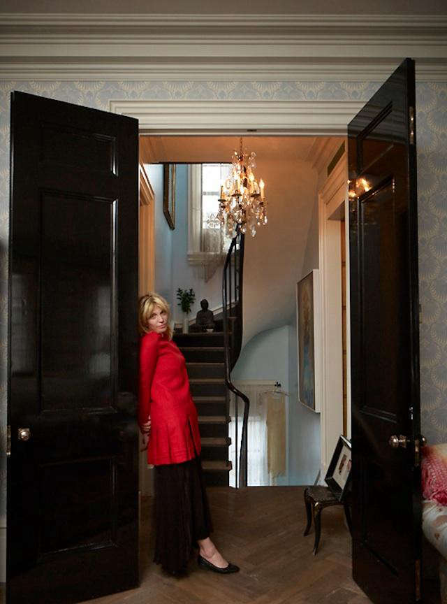 courtney love red jacket