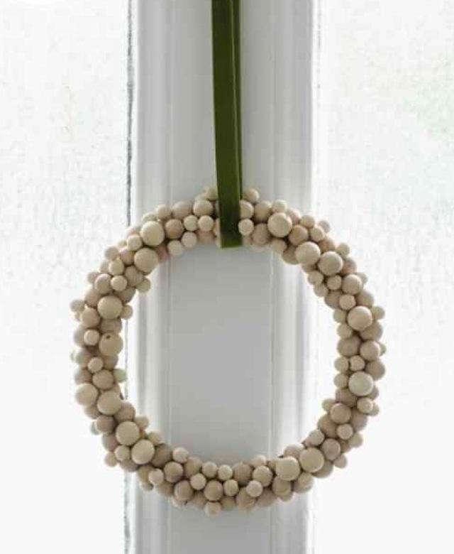 DIY Wooden Bead Wreath from Sweet Paul portrait 3