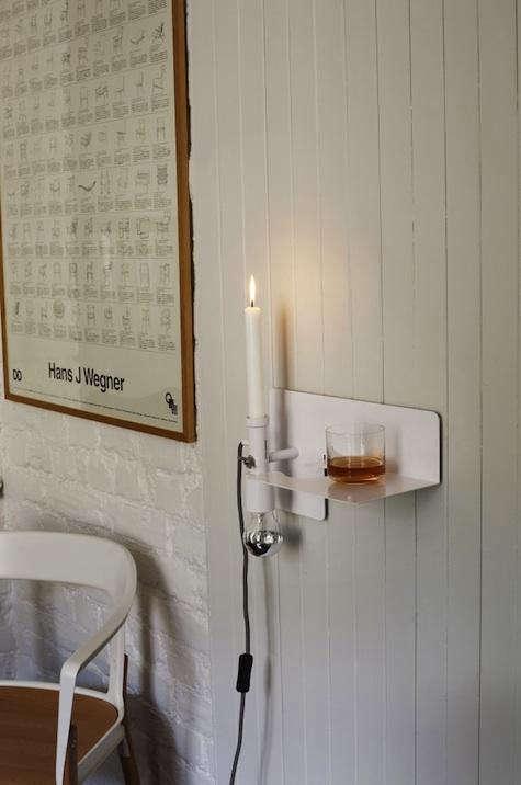 white wall light design skool