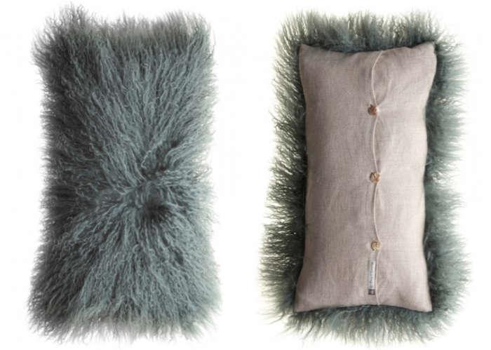 700 blue goat hair tibetan pillow