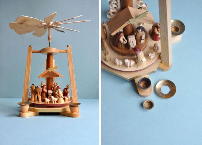 700 blue nativity scene pyramid