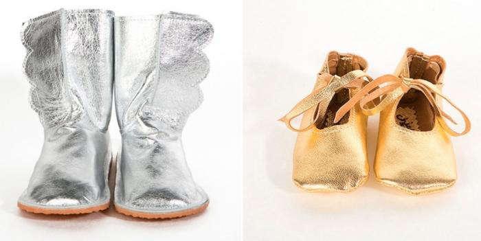 700 children metallic boots shoes