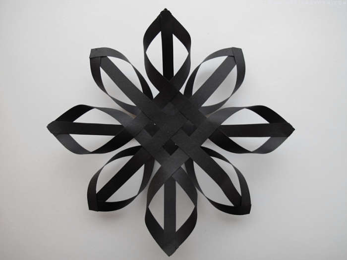 700 diy star black paper