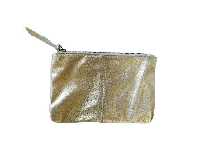 700 erica tanov makeup bag gold
