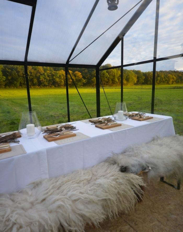 700 food studio table sheepskin half