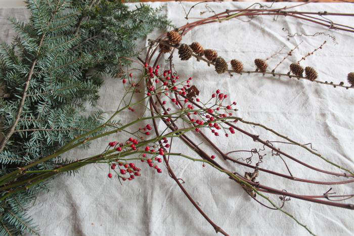 DIY Simple Advent Wreaths Made from Foraged Flora portrait 4