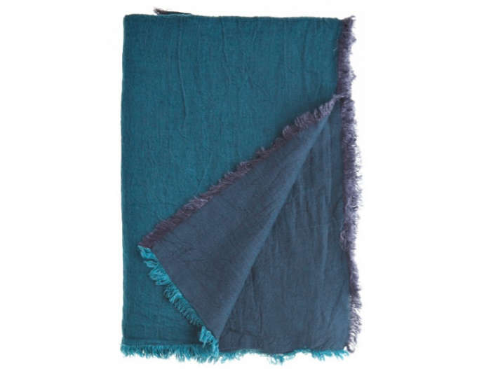 700 indigo fabric throw blanket calypso